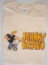 T-shirt vintage Johnny Bravo beige 100% cotton size XL cartoon