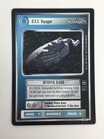 Star Trek Voyager CCG U.S.S. NCC-74656 Federation 194R Rare Card Black Border