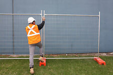 Temporary Fencing  - NEW (Panel, PVC  Encased Base & Clamp)