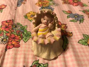 RUSS Baby Girl First Curl Teddy Bear Keepsake Box/Gift