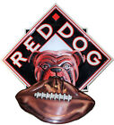 """Red Dog Metal Beer Sign With Football 31"""" x 30"""" Man Cave"""