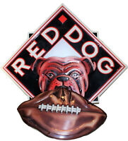 "Red Dog Metal Beer Sign With Football 31"" x 30"" Man Cave"