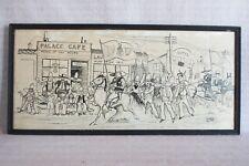 Antique Herb Roth Original Ink Illustration St. Patrick's Day Laredo Texas 1917