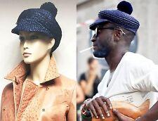 $425 RUNWAY Burberry Prorsum Raffia Bobble Straw L Hat Cap Men Women Gift ITALY