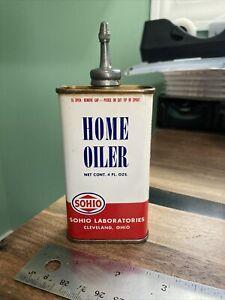 SOHIO Household Oil Lead Top 4oz Handy Oiler Tin Can Gun Graphic Cleveland OH