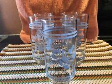 "Pfaltzgraff YORKTOWNE Glassware Set of 5 Coolers 14 oz Round Base 5 3/4""Lot#0395"