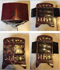 Boîte en bois laqué ancienne 19ème siècle origine Asie