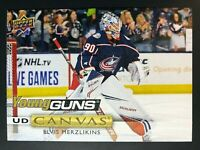 2019-20 Elvis Merzlikins Young Guns Canvas Rookie