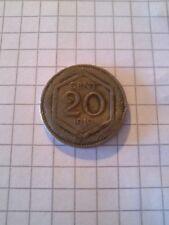 Moneta Regno d'Italia 20 centesimi 1919 Esagono bordo liscio