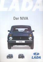 Lada Niva Prospekt 2002 4/02 Autoprospekt brochure broschyr brosjyre prospectus
