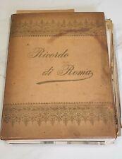 More details for antique ricordo di roma grand tour picture photo album