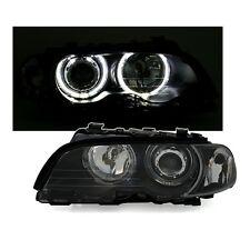 2 FEUX PHARE AVANT ANGEL EYES LED NOIR BMW SERIE 3 E46 COUPE PHASE 1 99 A 04/03
