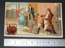 CHROMO 1890-1900 CHICOREE A LA BELLE JARDINIERE BERIOT LILLE PHILIPPE LEBON GAZ