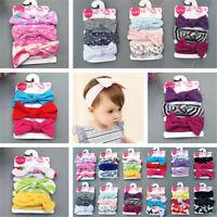 3x Cute Kids Girl Baby Toddler Bow Headband Hair Bands Accessories Headwear Hot
