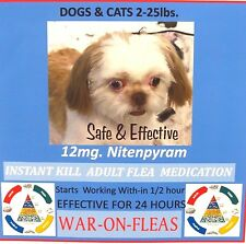 Flea Control Pills Capsules Dogs&Cats 2-25lbs. (30)  SALE $19.99 GREAT REVIEWS!!