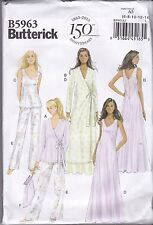 Butterick Sewing Pattern Misses' Robe Top Gown Pants & Bag Size 6 - 22 B5963