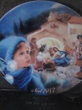 Limoges 1987 NOEL Navity Scene La Creche Etoilee  Ltd Ed Plate