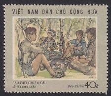North Vietnam War Propaganda stamp Scenes of war After a skirmish # 550