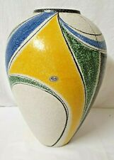 Ruscha Milano Design signiert Keramik Vase Bodenvase 40cm West Pottery 50er Jahr