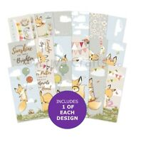 Hunkydory Foxy Fun Adorable Scorable DL Paper Pad- Sample Pack 18 Papers 150gsm