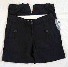 Gap Drawstring Crop Capri Womens Black Khaki Pants Size 1