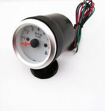 Auto 50mm Pointer Tachometer Tach Gauge Rev Counter Blue LED Light Black Holder