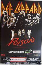 Def Leppard & Poison San Diego 2012 Concert Tour Poster - Classic Rock Music