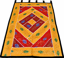 "Ethnic 59"" x 40"" Wall Hanging Embroidered Tapestry Runner INDIAN Home Decorative"