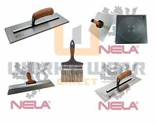 "NELA - Trowel, Finishing Spatula, MediFlex, Hawk and 5"" Brush Plasterers Bundle"