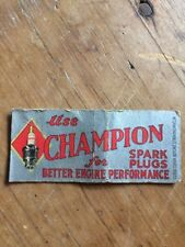 Vintage Matchcover CHAMPION SPARK PLUGS Advertising PFull Length 1950s