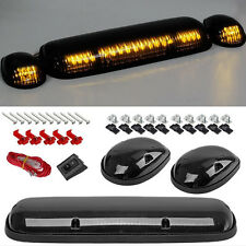 3PCS Clear Cover Amber 30LED Cab Roof Top Marker Lights For 02-07 Chevrolet/GMC