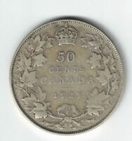 CANADA 1929 50 CENTS HALF DOLLAR KING GEORGE V 800 SILVER CANADIAN COIN