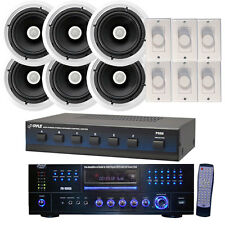 New Pyle KTHPK203 Complete Audio Package W/ 6 Channel Selector + 6x 300W Speaker