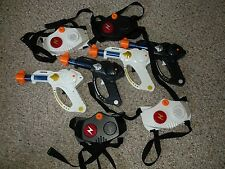 Lot of 4 Laser Tag Guns and Targets