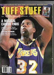 TUFF STUFF MAGAZINE & PRICE GUIDE January 1992 Magic Johnson LA Lakers On Cover
