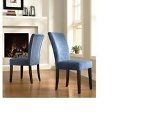 TRIBECCA HOME Royal Blue Chenille Parson Chairs (Set of 2)  vsp5-7