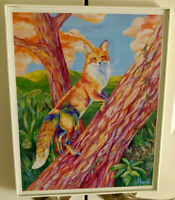 Fox in a Tree - District of C Limited Edition Framed Art Print