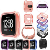 Premium Soft TPU Protection Silicone Full Case Cover For Fitbit Versa Watch