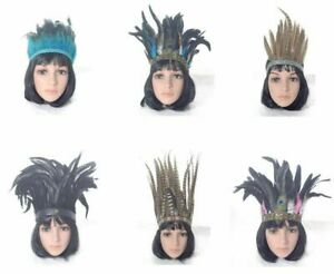 Ladies Feather Headdresses Festivals  Fancy Dress Carnival Feather HeaddresS
