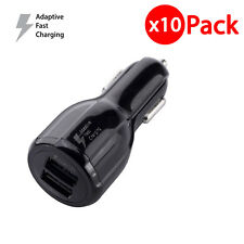 10x OEM Original For Samsung Dual Port Fast Car Charger for Galaxy S6 S7 Edge S8