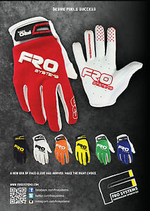 Elite Race Gloves By FRO Systems. Motocross, MX, Dirtbike, Enduro, BMX, Speedway