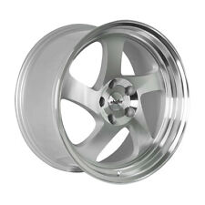17x9 Whistler KR1 5x114.3 +25 Silver Rims Aggressive Fits Civic Veloster Eclipse