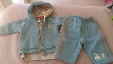 SIZE NB / 0000 BOYS BLUE TRACK SUIT &  MATCHING LONG SLEEVE TOP  - PUMPKIN PATCH