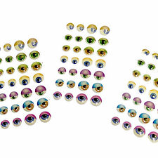 """3D"" Coloured Eye Stickers - SELF-ADHESIVE (10 sheets of 28)"