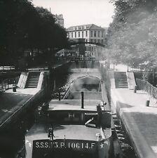 PARIS c. 1948 - Péniche  Écluse  Canal Saint Martin - Div 10934