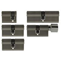 5x Tür Zylinder Schloss 40/60/80mm gleichschliessend +5 Schlüssel Schliessanlage