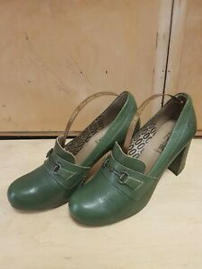 Womens Fly London green leather Shoes UK 6