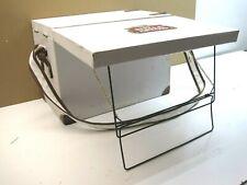 Vintage Stella Artois white canvas cooler picnic basket fold-out mini table