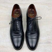 Dack Vintage Men's Oxford Shoes Black Cap Toe Size 10.5 N Narrow