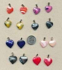 16  Mother of Pearl  HEART charms  (Y31)